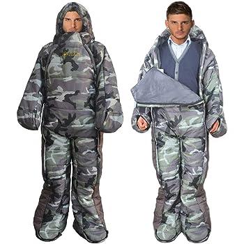 MAXSOINS公式ショップ 着る寝袋 人型 動ける寝袋 シュラフ 冬用 水洗い可 [適応身長160cm~180cm] [最低使用温度-10℃]