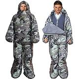 MAXSOINS公式ショップ 着る寝袋 人型 動ける寝袋 シュラフ 冬用 水洗い可 XLサイズ [適応身長170cm~190cm] [最低使用温度-10℃]