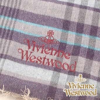 (ヴィヴィアン・ウエストウッド) Vivienne Westwood s42-f933-0003 オーブロゴ入りマフラーS42-F933-0003 ブルー 正規品