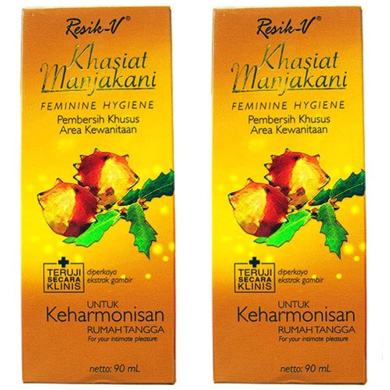 Resik-V マンジャカニ 女性用液体ソープ90ml 2本セット [並行輸入品][海外直送品]