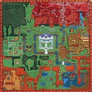 ゼルダの伝説 神々のトライフォース2 マイクロファイバーブランケット 地図柄 単品