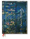 Paperblanks Dayplanners 2017 Monet (Water Lilies) Ultra Vertical 12Months DE3467-4 英語版 正規輸入品