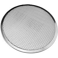 RaiFu アルミニウム ラウンド ピザ皿 ノンスティック 再利用可能なメッシュトレイ 焙煎盤 10インチ