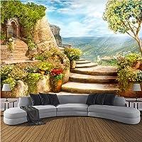 Lcymt カスタム3D写真の壁紙ヨーロッパの庭自然風景大壁画の寝室のリビングルームの背景壁の壁画-150X206Cm