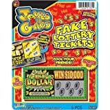 Jokes & Gags Fake Lottery Tickets (Pack of 3) by Jokes and Gags