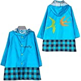TopRen Kid Rain Coat, Cartoon Children Waterproof Raincoat, Lightweight for Ages 3-12 Years Old Girls and Boys 4 Size