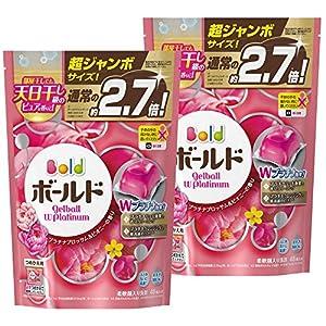 【まとめ買い】 ボールド 洗濯洗剤 液体 ジェルボール プラチナブロッサム&ピオニーの香り 詰め替え 超ジャンボサイズ 940g (48個入り)×2個