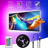 SHOPLED TV LED Backlight, 9.8ft USB Powered RGB Strip Lights Kit for 40-60 inch TVs, Monitor Backlight Lighting Kit for HDTV