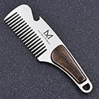 Practical Portable Men Beard Shaving Pocket Comb Male Mustache Brush Latest Gift