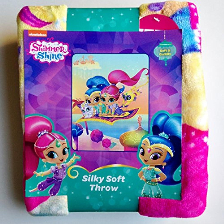 [ニコロデオン]Nickelodeon Shimmer and Shine Soft and Cuddly Silky Soft Throw B01MTLB2TF [並行輸入品]