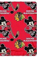 """正式ライセンスNHL Chicago Blackhawks 50"""" x 60"""" Mickey Mouse Character Fleece Throw"""