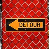 Made in USA ストリートサイン / DETOUR (迂回路・まわり道 ←左矢印)