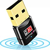 USBNOVEL USB WiFi Adapter-Dual Band 2.4G/5G WiFi Dongle 802.11 ac Mini Wireless Network Card 600Mbps with High Gain Antenna f