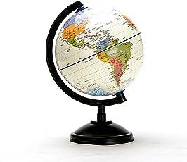 インテリア地球儀 英語表記 政治地域 先生や学生におすすめ 教育用グローブ、インフレータブル・ワールド・グローブ、回転式、HDおよび圧縮14.16cm 地球地図