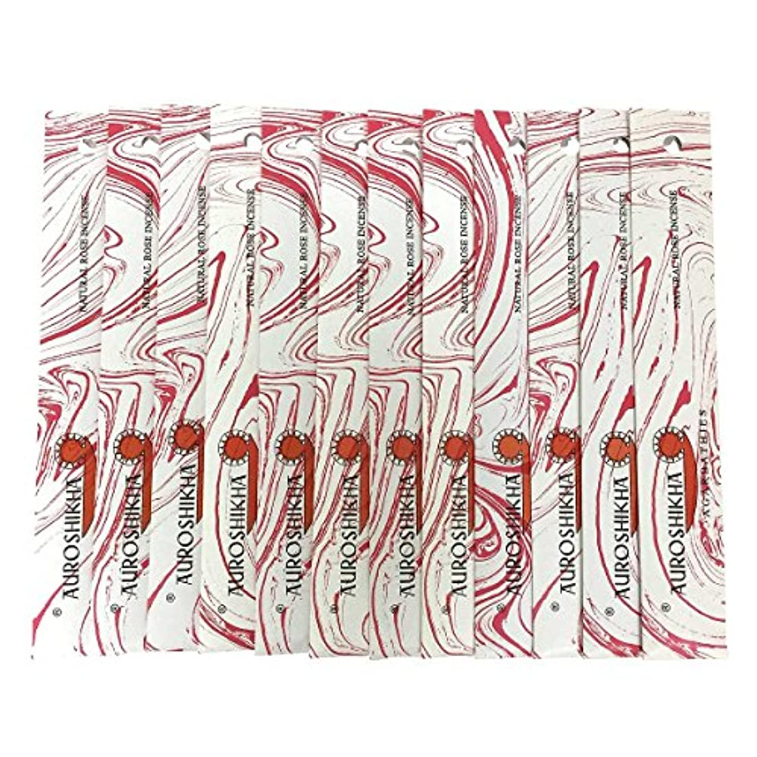 環境蛾マーガレットミッチェルAUROSHIKHA オウロシカ(NATURAL ROSEナチュラルローズ12個セット) マーブルパッケージスティック 送料無料