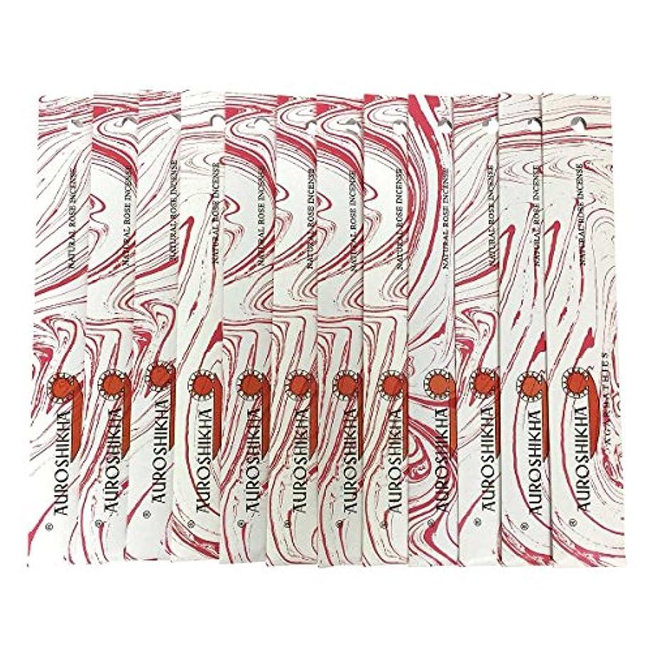魅力的であることへのアピール減る刺繍AUROSHIKHA オウロシカ(NATURAL ROSEナチュラルローズ12個セット) マーブルパッケージスティック 送料無料