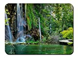 クロアチア、プリトヴィッツェ湖群国立公園、滝、森、湖 パターンカスタムの マウスパッド 旅行 風景 景色 (26cmx21cm)
