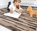 なかね家具 ほっとカーペット対応 防ダニ 抗菌 ラグマット おしゃれ 北欧 日本製 デザインラグ 190x190 ブラウン 正方形 589mato-ne