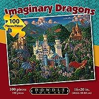 ジグソーパズル–Imaginary Dragons 100pc by Dowdleフォークアート