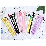 20PCS Cartoon Gel Ink Pens Assorted Style Writing Pens Kawaii Roller Ball Pens Stationery Kids Birthday Gift Set