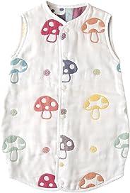 【Amazon.co.jp限定】 ホッペッタ Hoppetta champignon 6重ガーゼスリーパー ドレス式/カバーオール式2way ベビーサイズ 5463