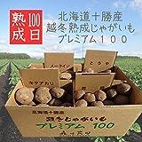 100日熟成じゃがいも (キタアカリ 男爵 メークイン とうや 4品種 各3kg )計12kg 北海道十勝産 越冬 プレミアム100 減農薬栽培 ジャガイモ じゃが芋 ジャガ芋