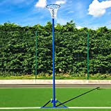 Freestanding Netball Posts [School Standard] Galvanised Steel - Available in Pink Or Blue