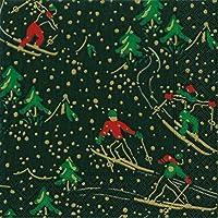 ペーパーナプキン、プレートクリスマスパーティーHolidayパーティー素朴なクリスマス装飾スキーロッジブラック Lunch Napkins Pack of 40 ブラック 14791L