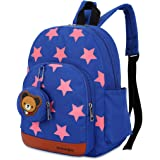 KXF Toddler Backpacks for Girls/Boys Waterproof Canvas Cute Cartoon Kids Preschool Kindergarden Schoolbags