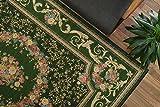 おしゃれ な 花柄 薄型 ラグ アルダ グリーン 約 140×200 cm ゴブラン織り カーペット 折りたたみ 可能 ホットカーペットカバー 対応
