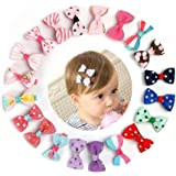 St. Lun 10 Pcs Baby Girls Toddlers Tiny Baby Hair Clips Hair Bows Clips hair Accessories