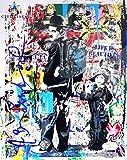 ミスター ブレインウォッシュ 直筆 サイン 入り ポスター JSA社 筆跡鑑定証明書付き バンクシー アンディ ウォーホル ストリートアート シードスターズ証明書付き