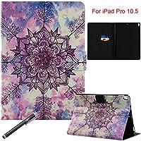 iPad Pro 10.5インチケース, Newshine磁気キックスタンド保護カバーカード/財布ポケット自動スリープ/スリープ解除機能付きApple iPad Pro 10.5インチ(2017released) 9.7 Inch