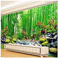 Xbwy 3D壁の壁画の壁紙風景竹林の壁紙自然の壁画のリビングルームの習慣-120X100Cm