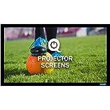 QualGear 120-Inch Fixed Frame Projector Screen, 16:9 4K HD Ultra White at 1.2 Gain (QG-PS-FF6-169-120-W)