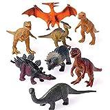 US Toy 12 Assorted Plastic Toy Dinosaurs Play Set, Medium