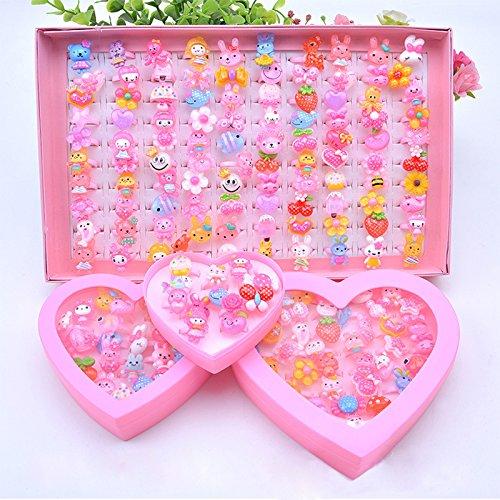 [해외]Liebeye 반지 세트 귀여운 축제 경품 젯날 여자 할로윈 크리스마스 패션 반지 100PCS | 상자/Liebeye ring set cute festival prizes fairy girls girls Halloween Christmas fashion ring 100PCS | box