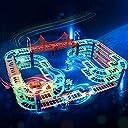 くらやみで光る レールセット トラックス ミニカー 光る レースカー 電動車 DIY 男の子 おもちゃ DNYCF出品 プラスチック レール 子供 誕生日 クリスマス プレゼント
