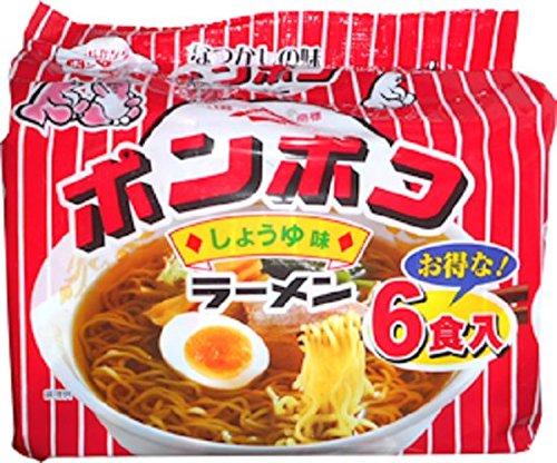ポンポコラーメン しょうゆ味 90gX6食