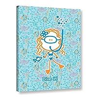 ArtWall F(Felittle) Kamriana's Dive in Girl ギャラリー キャンバスに梱包 14x18 マルチカラー 0kam013a1418w