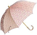 (ムーンバット)MOONBAT um-feel 婦人ショート雨傘 LIBERTY ART FABRICS 生地使用 Alice柄Mix 21-426-39420-00 33-55 レッド 55cm