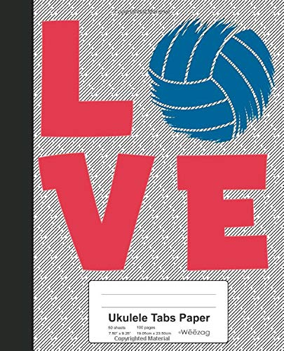Download Ukulele Tabs Paper: Love Volleyball Book (Weezag Ukulele Tabs Paper Notebook) 1097639452