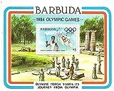 1984オリンピック/ 1984年/バーブーダギリシャ式典のコンテキストでオリンピックの聖火を運ぶランナーをフィーチャー