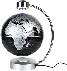 Yosoo 8inch 磁気浮上 地球儀 浮遊・回転型の地球儀 浮く地球儀 自動回転 LEDライト 空中浮遊 空中浮揚 世界地図 360度回転 球体点灯回転 電磁誘導 リニアモーターカー地球儀 英語表記 ベース付き 点灯 オフィス 飾り用品 世界地図 教学用