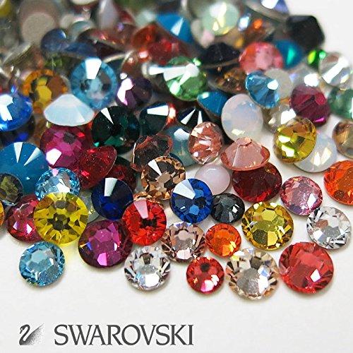 スワロフスキー(Swarovski) クリスタライズ ラインストーン ネイルサイズMIX (100粒) マルチ