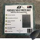 "Wool Ironing Mat 18"" x 12""x 0.59"" - 100% Pure New Zealand Wool Ironing Pressing Mats - Quilting Ironing Pad - Easy Press - 15"