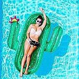 巨大でインフレータブルサボテンフローティング行、ウォーターラウンジチェア、夏の屋外プールパーティービーチホリデー水楽しいおもちゃ