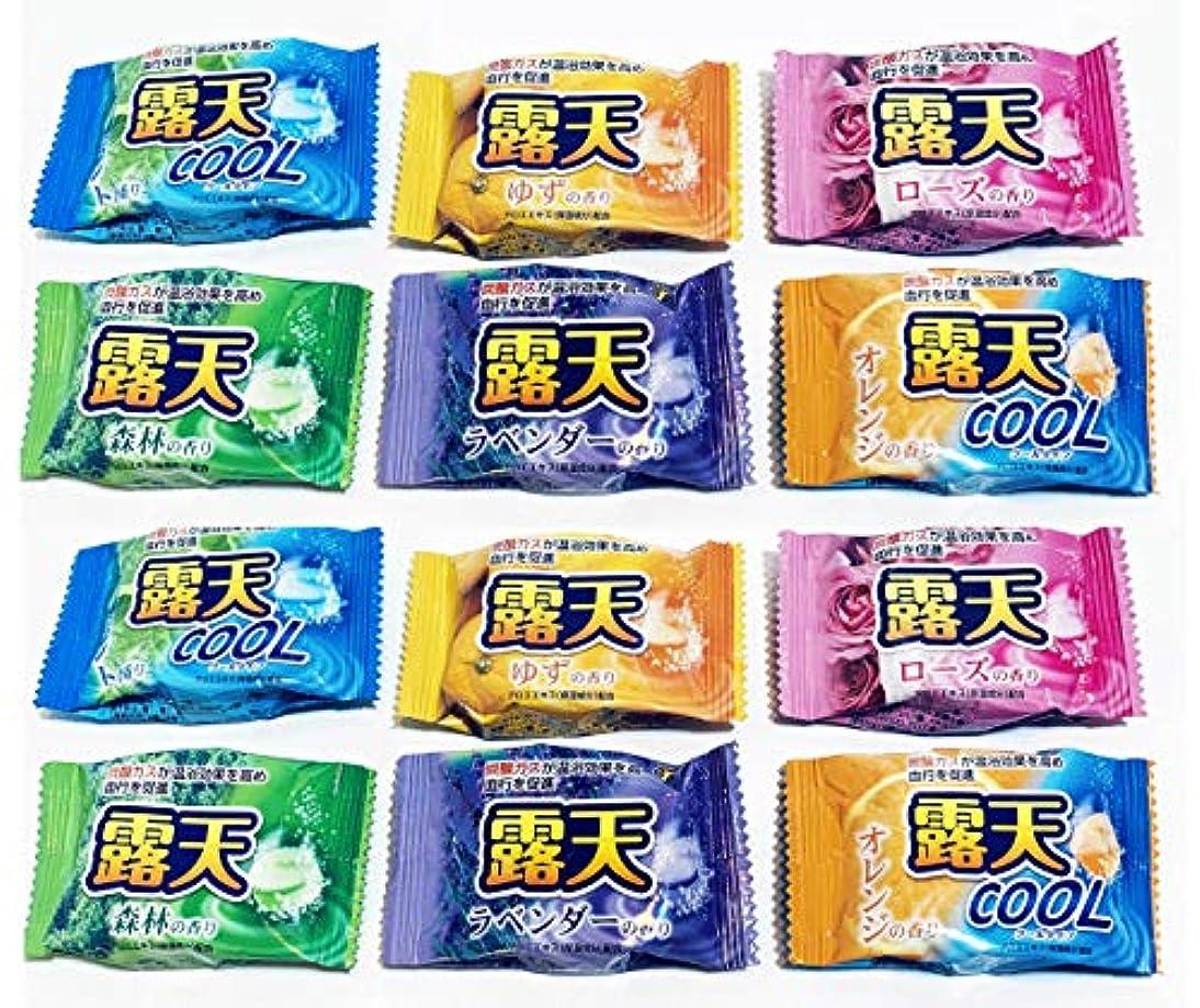バブル省経験者露天 入浴剤 6種類 バラエティセット 【×2個 】合計12個