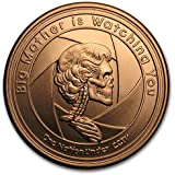 3枚?アメリカ「ビッグ?マザーがあなたを見守っている」1オンス?メダリオン?銅貨?銅 .999 赤金 メダル 1 oz カプセル クリアーケース付き