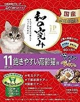 (まとめ買い)日清ペットフード ジェーピースタイル 和の究み 11歳から 飽きやすい高齢猫用 240g 【×6】